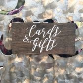 Wood Cards & Gifts Sign, Hand Painted Signs, Wood Wedding Signs, Woodsy Wedding