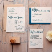 Elegant Hand Drawn Wedding Invitation -