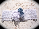 white light blue lace garter