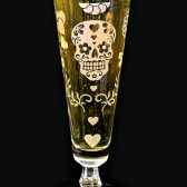 Day of the Dead Fluted Beer Glass