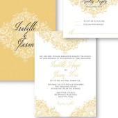 Fancy Flourish Medallion Wedding Invitation – Isabelle