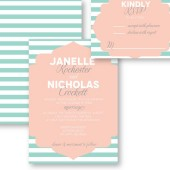 Striped Frame Wedding Invitation – Janelle