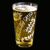 Superhero Wedding Beer Glass, Comic Book Style