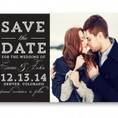 Carrie – Chalkboard Typography Save The Date