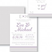 Eva Rustic Shabby Chic Casual Wedding Invitation