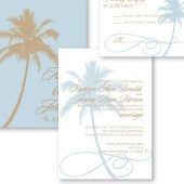 Palm Tree Beach Wedding Invitation – Kate