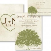 Rustic Oak Tree Invitation – Kelly