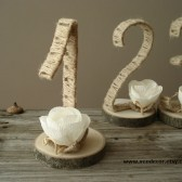 Rustic table numbers 1-10