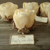 Rustic flower name cards