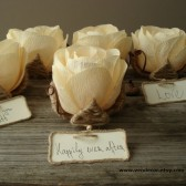 Flower place card holder