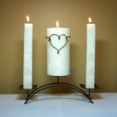 Rustic Unity Candle, wedding, rustic, unity, ceremony, candles, white, unique, handmade