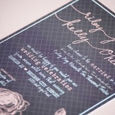 Pink and Grey Hand Lettered Invitation