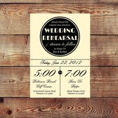 Vintage Rehearsal Dinner Invitation