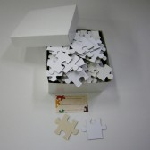 Blank White Wedding Guest Book Puzzle
