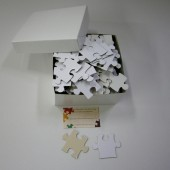 White Wedding Puzzle for Guest Book Alternative with 63 Extra Large Pieces