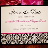 Custom Damask Save the Date