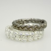 Braid & Square Knot Wedding Band Set
