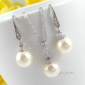 Swarovski Pearl Drop Jewelry Set