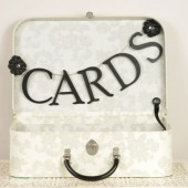 Paris Wedding Card Box - Black and White