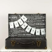 Black and White Card Trunk - Subway Art - Live Laugh Love