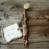 Wooden sticks place cards