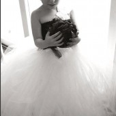 flower girl tutu dress in black and white