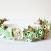 Mint Green Floral Crown