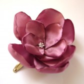 dusty rose blossom wedding flower snap clip