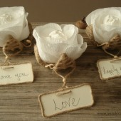 Flower place card holders