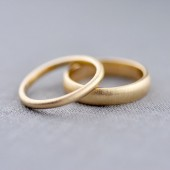 2mm & 5mm Half Round 14K Gold Bands