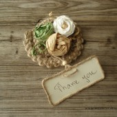 Crochet place card favors