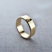 Men's 6mm Textured 14K Gold Band