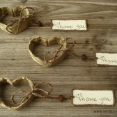 Heart place card favors