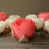 Rustic ivory coral flowers