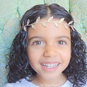 Greek gold leaves headband- Madison Gold