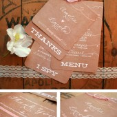 Rustic Wedding Menu Guest Booklet