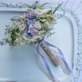 Handmade Spring Lavenders Wedding Flowers