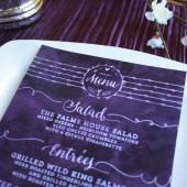 Printable Watercolor Wedding Menu Cards