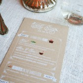 Rustic Kraft Paper Wedding Menus - Illustrated Menus