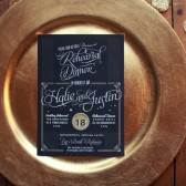 Glamorous Wedding Rehearsal Dinner Invitations
