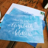 Watercolor Wedding Save the Date