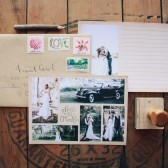 Vintage Wedding Thank You Cards with Rustic Photography Collage