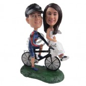 Wedding Couple on a Bike Custom Bobblehead