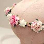 Pink and White Roses Crown