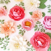 Handmade Paper Flowers for decor