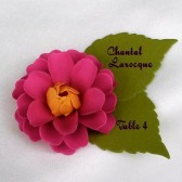 The Zinnia paper flower Escort Card