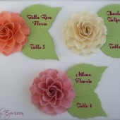 Escort Cards - Paper Flowers by Dragonfly Expression
