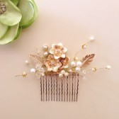 Gols flowers Luxe hair comb