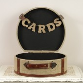 Burlap Card Trunk - Wedding Card Box