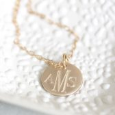 14K MONOGRAM CHARM NECKLACE